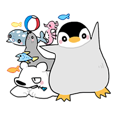 Little penguin and friends
