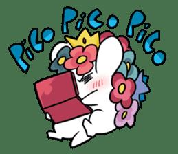 Flower Hedgehog's Stamp sticker #144697