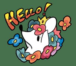 Flower Hedgehog's Stamp sticker #144704