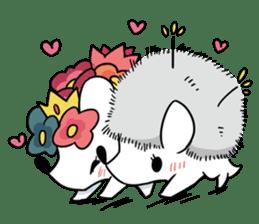 Flower Hedgehog's Stamp sticker #144706