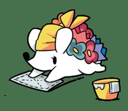 Flower Hedgehog's Stamp sticker #144721