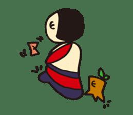 Coquettish Kokesshi sticker #144949