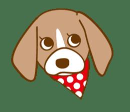 CAPRICIOUS BEAGLE DOG HANA sticker #145252