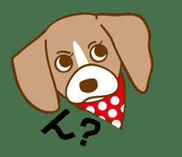 CAPRICIOUS BEAGLE DOG HANA sticker #145254