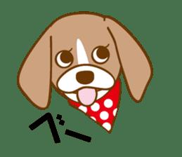 CAPRICIOUS BEAGLE DOG HANA sticker #145255