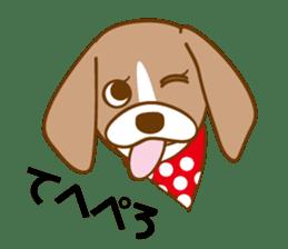 CAPRICIOUS BEAGLE DOG HANA sticker #145256