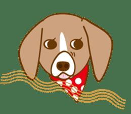 CAPRICIOUS BEAGLE DOG HANA sticker #145262