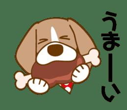CAPRICIOUS BEAGLE DOG HANA sticker #145264