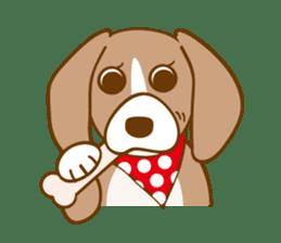 CAPRICIOUS BEAGLE DOG HANA sticker #145265