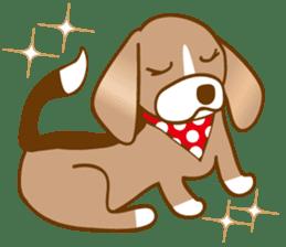CAPRICIOUS BEAGLE DOG HANA sticker #145269