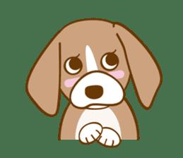 CAPRICIOUS BEAGLE DOG HANA sticker #145270