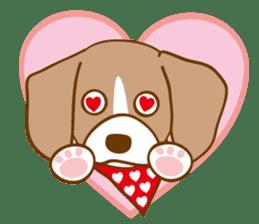 CAPRICIOUS BEAGLE DOG HANA sticker #145271