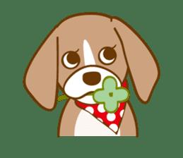 CAPRICIOUS BEAGLE DOG HANA sticker #145272
