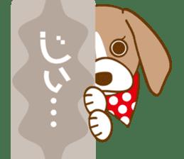 CAPRICIOUS BEAGLE DOG HANA sticker #145273