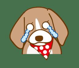 CAPRICIOUS BEAGLE DOG HANA sticker #145276