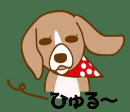 CAPRICIOUS BEAGLE DOG HANA sticker #145277