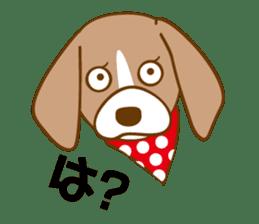 CAPRICIOUS BEAGLE DOG HANA sticker #145279