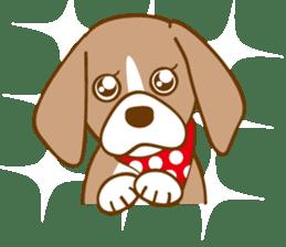 CAPRICIOUS BEAGLE DOG HANA sticker #145280