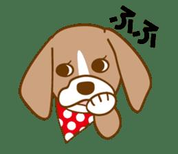 CAPRICIOUS BEAGLE DOG HANA sticker #145282