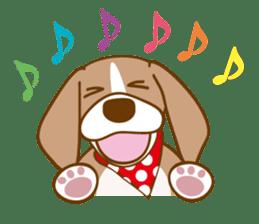 CAPRICIOUS BEAGLE DOG HANA sticker #145283