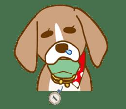 CAPRICIOUS BEAGLE DOG HANA sticker #145285