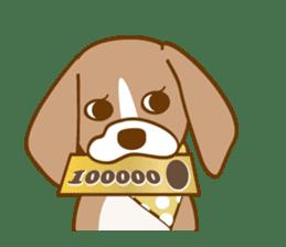 CAPRICIOUS BEAGLE DOG HANA sticker #145286