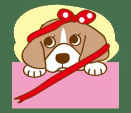 CAPRICIOUS BEAGLE DOG HANA sticker #145287