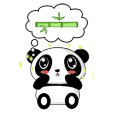 Panko Cute Little Panda sticker #147529