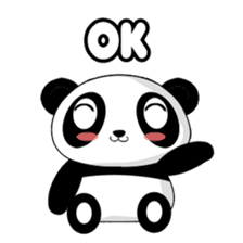 Panko Cute Little Panda sticker #147533