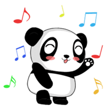 Panko Cute Little Panda sticker #147539