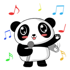 Panko Cute Little Panda sticker #147540