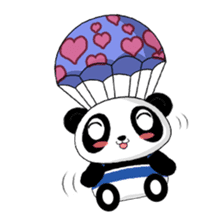 Panko Cute Little Panda sticker #147542