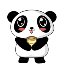 Panko Cute Little Panda sticker #147545