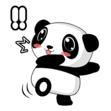 Panko Cute Little Panda sticker #147547