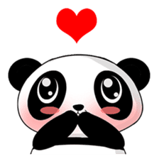 Panko Cute Little Panda sticker #147548