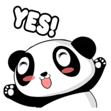 Panko Cute Little Panda sticker #147556