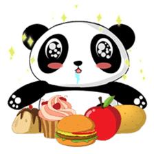 Panko Cute Little Panda sticker #147562