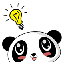 Panko Cute Little Panda sticker #147563