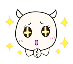 White Shiro-kun sticker #148326
