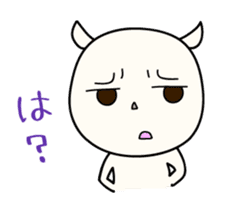 White Shiro-kun sticker #148333
