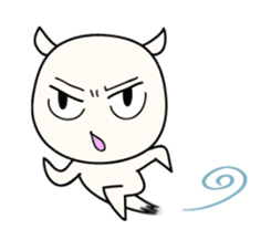 White Shiro-kun sticker #148336