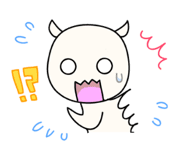 White Shiro-kun sticker #148354