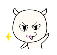 White Shiro-kun sticker #148355