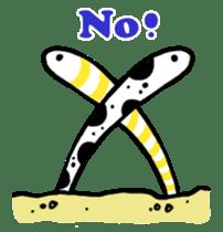 GO!spotted garden eel sticker #148507