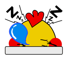 Funny Fat Bird sticker #148901