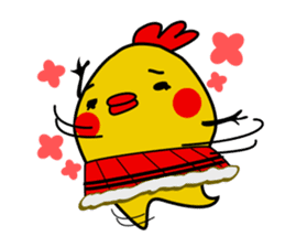 Funny Fat Bird sticker #148915