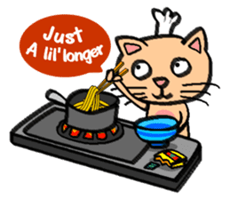 Milky the curious cat sticker #149089