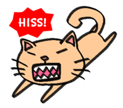 Milky the curious cat sticker #149091
