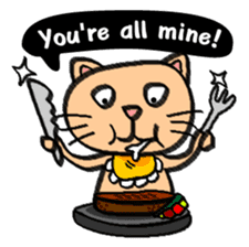 Milky the curious cat sticker #149092