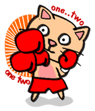 Milky the curious cat sticker #149093